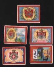 Old 1909 cigarette cards  Italy States #940